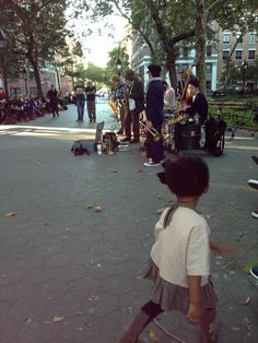 Out fit from Wunway, music from jazz band in Washington Sq park, moves by Lil Miss L.