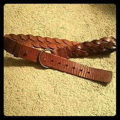 "Leather Braided Belt NWOT! Aerie brown leather braided belt, never used! There are 7 adjustable holes for fit. Smallest hole measures 32"" and the biggest measures 35"" in circumference. aerie Accessories Belts"
