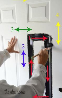 Betcha didn't know there was a wrong way to paint a door. Well worry not: This numbered guide could not be any easier to follow and will ensure your paint job comes out smooth and even. Get the tutorial at The Idea Room »  - GoodHousekeeping.com