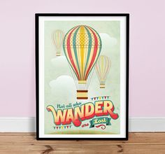 Not+All+Who+Wander+Are+Lost++Vintage+Poster+by+twenty21onecreative