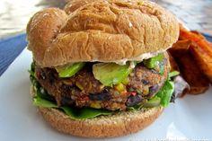 Black Bean and Quinoa Veggie Burgers recipe on Food52 - corn, red onion, cilantro, black beans, chipotle