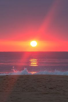 #Sunrise at the beach by ajemm on flickr #beach_sunrise #ocean_sunrise