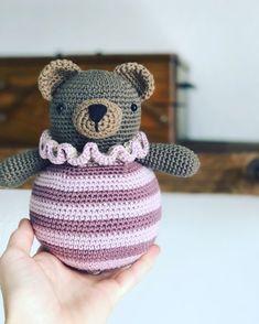 Crochet Teddy, Crochet Bear, Love Crochet, Crochet Dolls, Crochet Hats, Crochet Amigurumi Free Patterns, Baby Knitting Patterns, Handmade Baby, Evernote