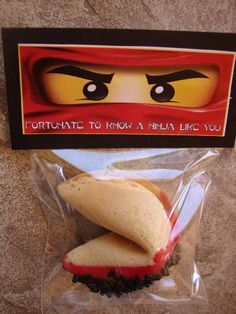 Ninjago Kai Fortune Cookie Party Favors