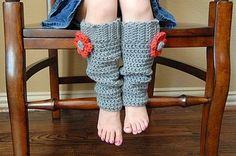 polainas a crochet
