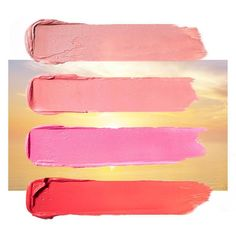 Start your day with your favorite sunrise shade. Featured: Velour Lovers Lip Colour in Sensual, Infatuation, French Kiss, Fantasy