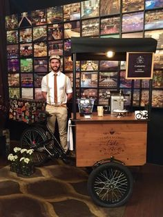 1 CAFÉ E A CONTA-FOOD BIKE -Marina Bandeira Klink criou a bike '1 Café e a Conta' com foco em eventos. Ela é mulher do famoso navegador Amir Klink.