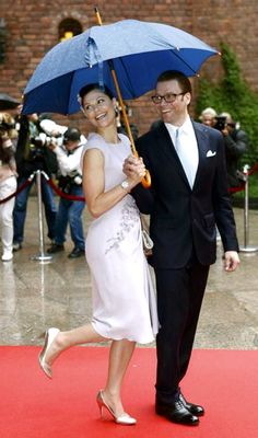 Crown Princess Victoria & Prince Daniel.  They are just so cute:)