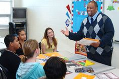 """""""Call Me MISTER"""" prepares future teachers from underrepresented populations - Longwood University. Justin Wilkes '05, M.S. '08 now teaches at Cumberland High School."""