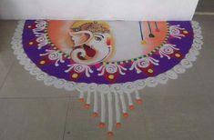 Ganpati Rangoli Designs for Diwali Competition