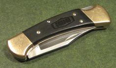 Vintage Buck 112 USA 1989 GANNON Construction Farm Tractor Ad Hunter Bowie Knife #Buck