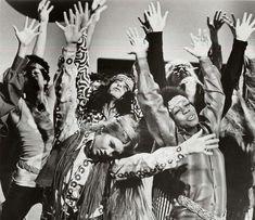 1960's hippies dancing