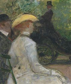 Henri de Toulouse-Lautrec 1864 - 1901 AU BOIS DE BOULOGNE Signed H.T. Lautrec and dated 1901 (lower left) Oil on canvas