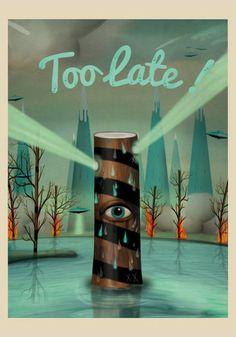 too late! – The Pig Gallery - Sergio Millan - Comprar ilustraciones