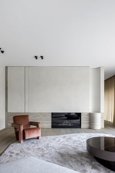 Modern Fireplace, Fireplace Design, Living Area, Living Spaces, Living Room, Home Interior Design, Interior Architecture, Wall Cladding Panels, White Apartment