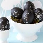 chalkboard paint easter eggs