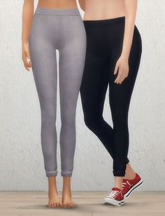 """nyloa: """" """"Cuffed Leggings - 2 Swatches """" Hello o/ I wanted some casual leggings like I wear irl. There is a little issue with bigger calf morphs on the cuff, sorry v.v Download / Alt """""""