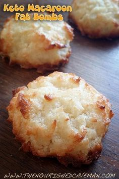 "A little too moist to be ""macaroons"" but still taste good. LM The Nourished Caveman - Keto Macaroon Fat Bombs: A macaroon which is also a great fat bomb! Bring some healthy fats in to your diet, Keto or not this is a dessert that's actually good for you! Keto Desserts, Keto Snacks, Dessert Recipes, Recipes Dinner, Holiday Desserts, Diabetic Snacks, Easy Keto Dessert, Keto Sweet Snacks, Stevia Desserts"