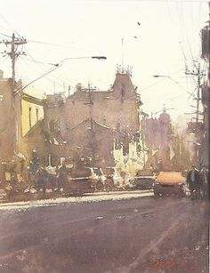 Joseph Zbukvic (b. Watercolor City, Watercolor Artists, Watercolor Techniques, Watercolor Landscape, Artist Painting, Watercolour Painting, Watercolours, Painting Abstract, Acrylic Paintings