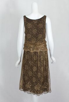 Modern Flapper Dress | Metallic lace flapper dress, c.1925 | Modern Fashion