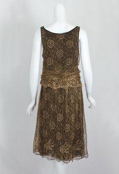 Modern Flapper Dress | Metallic lace flapper dress, c.1925 | Modern Fashion