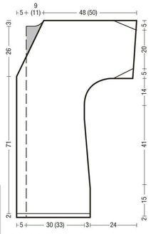Схема и описание вязания на спицах жилета-пальто из журнала Verena №4/2013