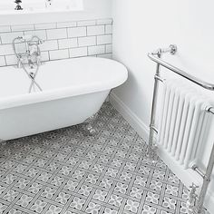 Traditional Bathroom - Design and Installation Bathroom Floor Tiles, Wall And Floor Tiles, Bathroom Colors, Tile Grout, Tiling, Bathroom Ideas, Bathroom Interior Design, Bathroom Styling, Gray Interior