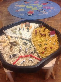 Farm - love the different materials, rice, oats, corn flakes - very creative