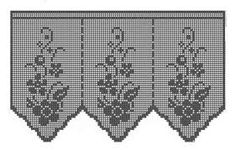 Resultado de imagem para gráficos de cortina de croche