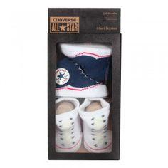 Converse Baby 2-er Geschenk-Set Socken navy weiß