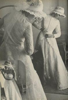 Dresses Forever After, Alfred Angelo vintage designer fashion bride ad from 1975