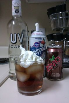 UV Cake Vodka, Root beer and whipped cream. A dream come true