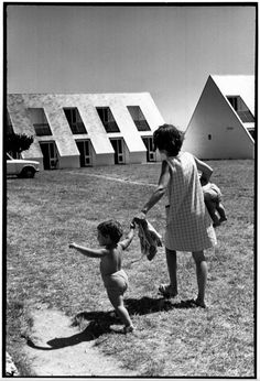 "© Henri Cartier-Bresson/Magnum Photos // Morbihan. ""Village-Vacances-Famille"" holiday village. 1969."