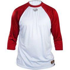 Louisville Slugger Youth Slugger Loose-Fit 3/4-Sleeve Shirt, White/Red, Boy's, Size: Large