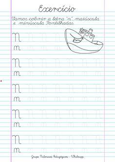 Blog Educação e Transformação: 👍Caligrafia: alfabeto e números Letter N, Libra, Pastel, Writing, Words, Letter Recognition, Even And Odd, Cursive, Initials