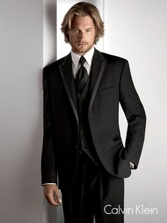 Calvin Klein 'Arden' tuxedo. What i wore in my wedding.  I didn't look as good as this dude...