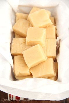 Skinny Eggnog Fudge - Only 4 ingredients & no candy thermometer necessary. Indulge without the guilt!