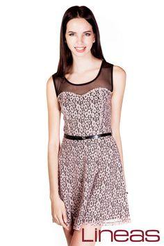 Vestido, Modelo 19437. Precio $280 MXN #Lineas #outfit #moda #tendencias #2014 #ropa #prendas #estilo #primavera #outfit #vestido