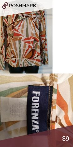 Retro Multicolored autumn blouse Retro Multicolored autumn blouse Forenza Tops Blouses