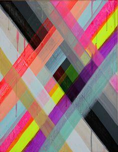 Painting by Maya Hayuk - Love the colours! Maya Hayuk, Textures Patterns, Print Patterns, Painting Patterns, Toronto Art Gallery, Illustration Arte, Arte Fashion, Art Design, Neon Design