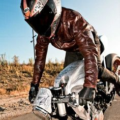 Ronin Tobacco Leather Jacket from Roland Sands Designs. test