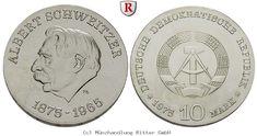 RITTER DDR, 10 Mark 1975, Schweitzer, J. 1554 #coins #numismatics