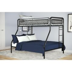 This metal bunk bed is certainly an inspiring and remarkable ideaThis metal bunk bed is certainly an inspiring and remarkable ideaThese metal bunk beds are certainly an inspiring and remarkable idea. These metal bunk beds Twin Full Bunk Bed, Metal Bunk Beds, Modern Bunk Beds, Bunk Beds With Stairs, Kids Bunk Beds, Metal Futon, Twin Xl, Attic Bed, Quartos