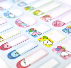 Mamegoma stationary Label Stickers - $3.25  Let the cutest seal in the sea help you label and organize for your upcoming activities! Mamegoma Label Stickers are the perfect accessory to not only brighten up your day with each design displaying a playful and silly Mamegoma, but to also keep your notebooks, planners, and journals neat and organized. Each label stickers has a special feature, a protective lining on the surface of the sticker to keep your text in tact.  -Product is approximately…