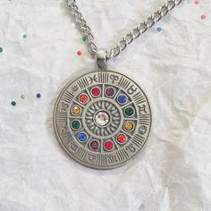 ZODIAC WHEEL Pendant Necklace  Astrology by utopically on Etsy