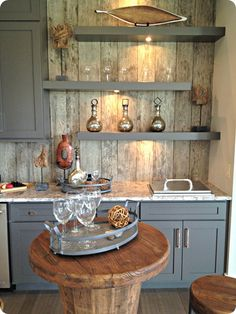reclaimed wood wall....tour of a home...like bits and pieces