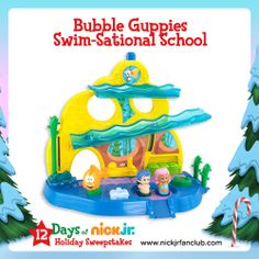 Bubble Guppies Swim-Sational School Playset is just one of the many prizes given out during our 12 Days of Nick Jr. Holiday Sweepstakes!