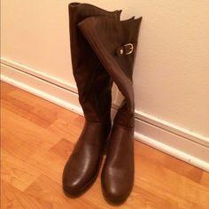 Merona brown boots Merona brown boots. Never worn. Merona Shoes Heeled Boots
