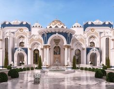 Supernew classic elegant and luxury Palacein UAE on Behance Luxury Homes Exterior, Luxury Homes Dream Houses, Exterior Design, House Outside Design, House Front Design, Classic House Exterior, Mansion Designs, Mansion Interior, Dream Home Design