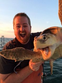 My brother in law caught a turtle today. They were pretty pumped.